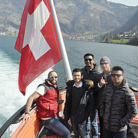 B.H.M.S. students - Lake Lucerne Switzerland