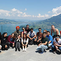 B.H.M.S. students visit Swiss sights
